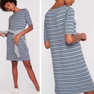 Lou & Grey Castaway Blue and white striped dress